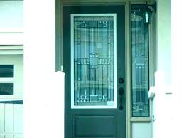 black front door with glass stained