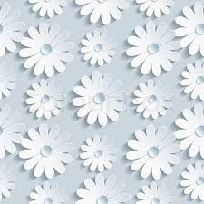 Flower Pattern Wallpaper Enchanting Beautiful Background Seamless Pattern Grey With White 48d Flower