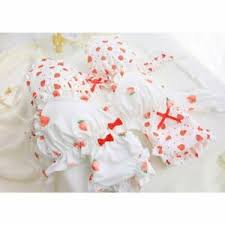 Japanese Bra Size Chart Details About Sweet Japanese Cute Strawberry Girl Bra Set Thin No Steel Ring Comfort Underwear