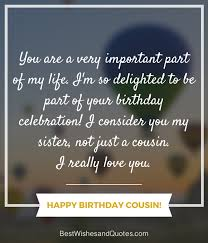 Cousin Birthday Quotes Awesome Happy Birthday Cousin 48 Ways To Wish Your Cousin A Super Birthday