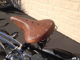 rustic leather cruiser seat