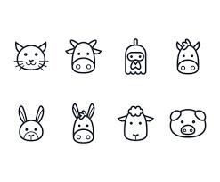 Animal Icon Outline Animal Icon Set Vector Art Graphics Freevector Com