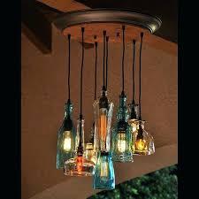 glass bottle chandelier jar lighting ideas diy recycled