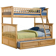 Natural Maple Bedroom Furniture Columbia Twin Full Bunk Bed Raised Panel Trundle Natural