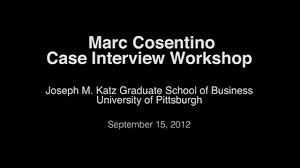marc cosentino case interview workshop on vimeo