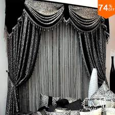 elegant bedroom curtains. Plain Curtains Mosaic Grid Black Mosaic Mark Embroid Curtains Mosained Tiles Curtain  Classic Design Elegant Bedroom Hook Stylein Curtains From Home U0026 Garden  In Elegant Bedroom