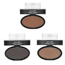 eyebrow powder. kaxier brow stamp eyebrow powder set makeup brush waterproof long lasting cosmetic dark grey brown o