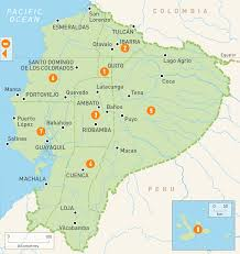 map of ecuador  ecuador regions  rough guides  rough guides