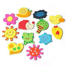 12 pcs cartoon kitchen fridge magnet baby educational wooden toy us 2 79 sold out