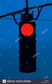 Stop Light At Night Red Traffic Stop Light At Night Stock Photo 16722192 Alamy
