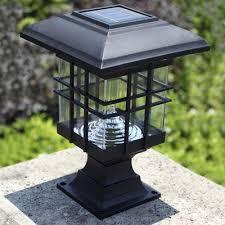 Chic Black 8 Inches High Abs Mini Solar 3 LED Garden Post Light Solar Garden Post Lights
