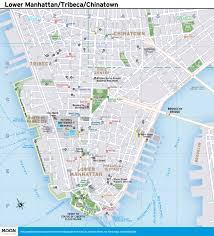 new york city map lower manhattan tribeca and chinatown moon best