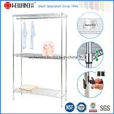 china nsf diy 3 tiers chrome metal wire wardrobe garment rack shelf china wardrobe rack wardrobe