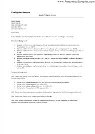 Firefighter Resume Templates Best Free Download Sample Best 28 Firefighter Resume Ideas On Pinterest