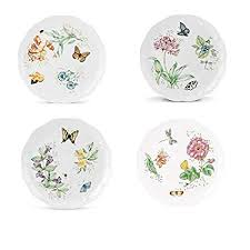 lenox butterfly meadow dinner plates. Contemporary Dinner Lenox Butterfly Meadow Dinner Plate Assorted 4p Set On Plates