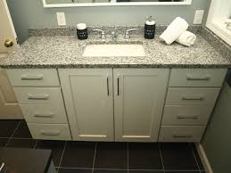 white bathroom cabinets with granite. semi custom vanity - white shaker doors with granite top contemporary- bathroom cabinets s