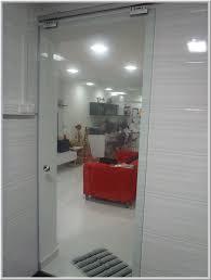 frameless tempered glass door