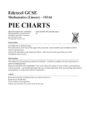 Edexcel Gcse Mathematics Linear 1ma0 Pie Charts Answers Pie Charts Castleford Academy