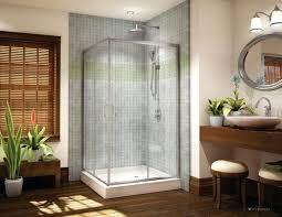 medium size of 36 x corner shower curtain rod inch enclosure kit glass doors signature square