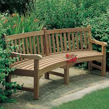 stylish curved outdoor bench