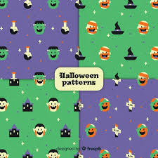 Lovely <b>vintage halloween pattern</b> collection | Free Vector