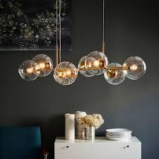 sculptural glass geo 3 light chandelier mixed west elm lighting staggered glass chandelier 8 light