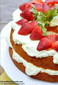 Strawberries And Cream Cake Spend With Pennies