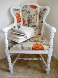 before after diy upholstered cane back chair