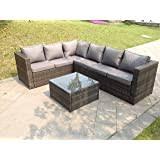 vidaXL <b>5 Piece Garden Lounge</b> Set with Cushions Outdoor Sofas ...
