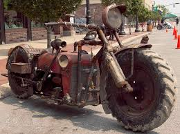 epic hand built rat bike made from an old tractor biker digital