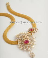 Broad Chain Designs Mango Diamond Pendant By Tibarumal Ramnivas Jewellery Designs