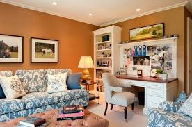 orange home office. amazing accent wall paint design for home office orange
