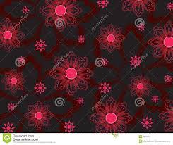 Roze Bloemenbehang Stock Illustratie Illustratie Bestaande Uit