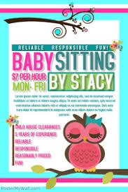 Babysitting Flyer Template Free Printable Babysitting Flyers Shop Fresh