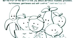 Free Fruit Of The Spirit Printables Fruit Of The Spirit Coloring