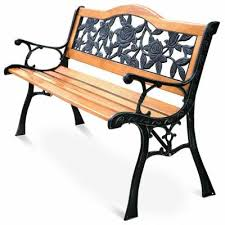 cast iron wood outdoor benches