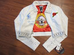 axl rose hand signed s n roses wilsons leather vintage size m las jacket