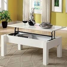 Furniture Of America Luiza Contemporary Coffee Table With Lift Top Storage,  White