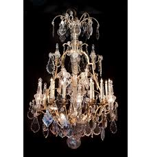 baccarat crystal and dore bronze chandelier 28 lights