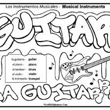 Spanish Food Coloring Pages