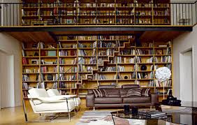 For Bookcases In Living Rooms Modern Living Room Design With Bookshelf And Open Plan Decoration