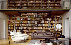 Living Room Bookshelves Modern Living Room Design With Bookshelf And Open Plan Decoration
