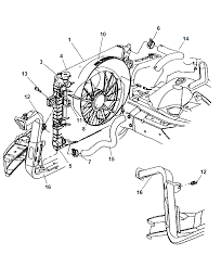 2004 jeep grand cherokee radiator related parts diagram 00i76090