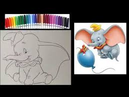 These disney coloring sheets will allow your kids to express their creativity and they're a great quiet time idea. Dumbo Coloring Page Disney Coloring Book Coloring With Markers Speed Art Youtube