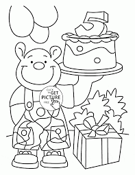 Happy 5th Birthday Card Coloring Page