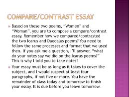 mrs smith s journey through verse ppt  59 compare contrast essay