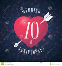 Graphic Design 70 70 Years Anniversary Of Being Married Vector Icon Logo