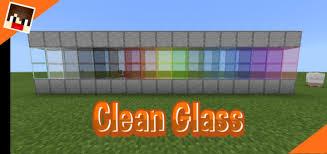 clean glass minecraft pe texture packs