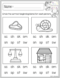 Sh Worksheets Printable Kindergarten Free For Grade Ch And Th Speech ...