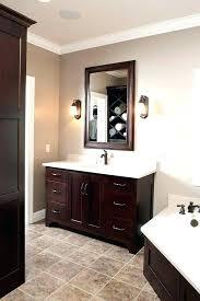 dark bathroom cabinets bathroom with dark cabinets bathroom wall color with dark cabinets o bathroom cabinets